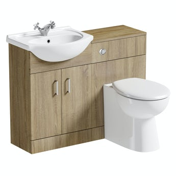 Sienna oak 1040 combination and Clarity back to wall toilet