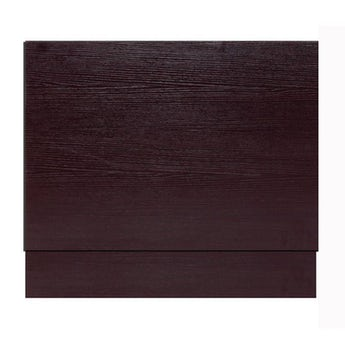 Wenge effect wooden straight bath end panel 750mm