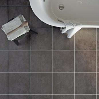 Canvas charcoal matt tile 331mm x 331mm