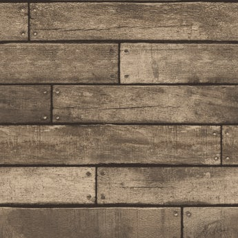 Fine Decor wooden plank sidewall gold
