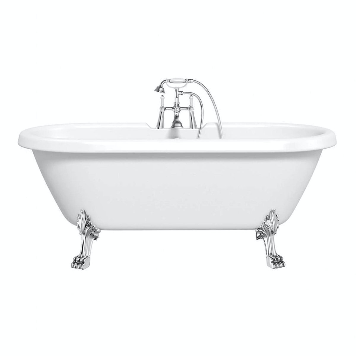 Shakespeare Roll Top Bath With Dragon Feet 1770mm Offer Pack