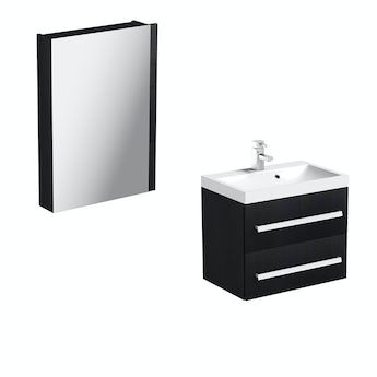 Arden essen 600 wall hung vanity unit and mirror offer