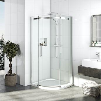 Mode Elite 10mm frameless quadrant shower enclosure 900 x 900