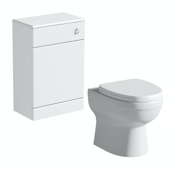 Energy back to wall toilet with Sienna white back to wall toilet unit