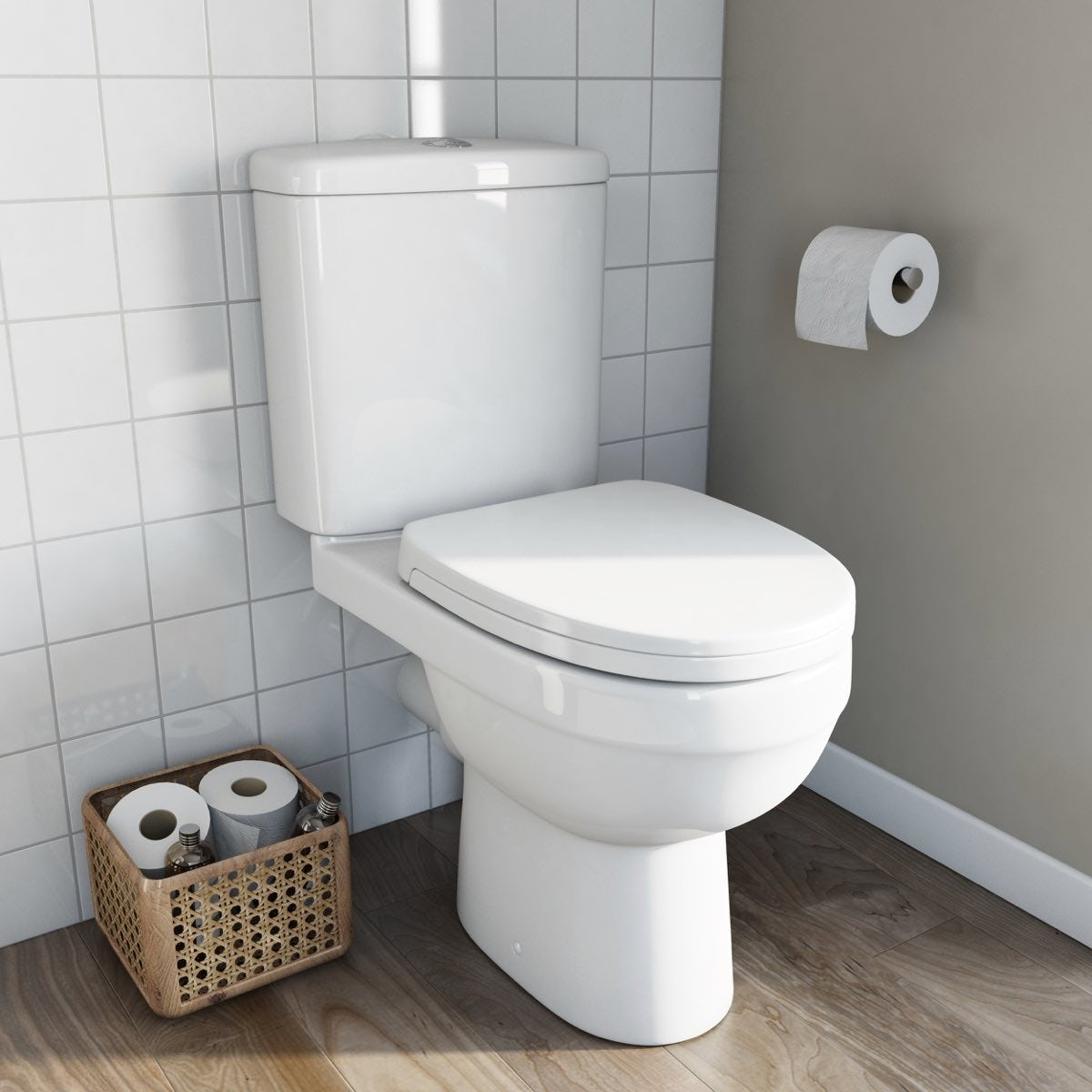 energy close coupled toilet inc soft close seat. Black Bedroom Furniture Sets. Home Design Ideas