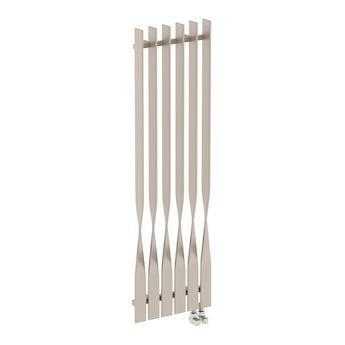 Terma Cyklon oyster grey vertical radiator 1600 x 495