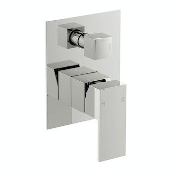 Square manual shower valve with diverter