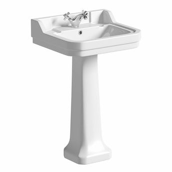 The Bath Co. Camberley 1 tap hole full pedestal basin 550mm
