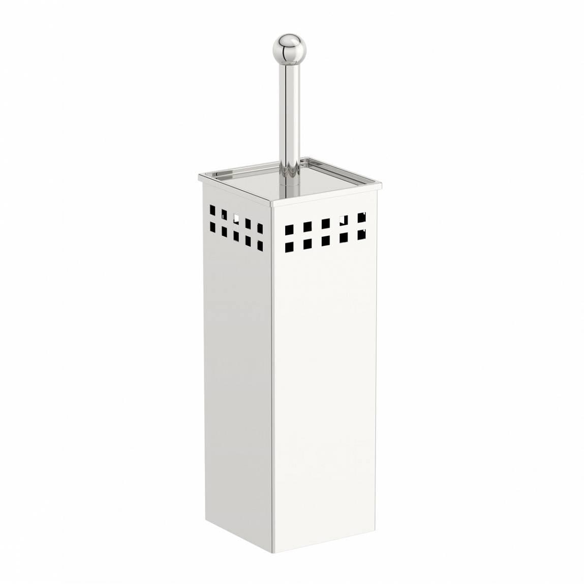 Options Stainless Steel Square Toilet Brush Holder