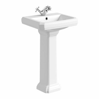Cavendish 1 tap hole full pedestal basin 500mm