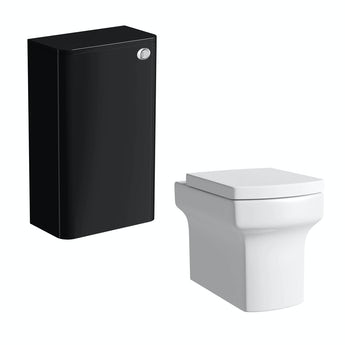 Mode Planet black back to wall toilet unit with Vermont back to wall toilet