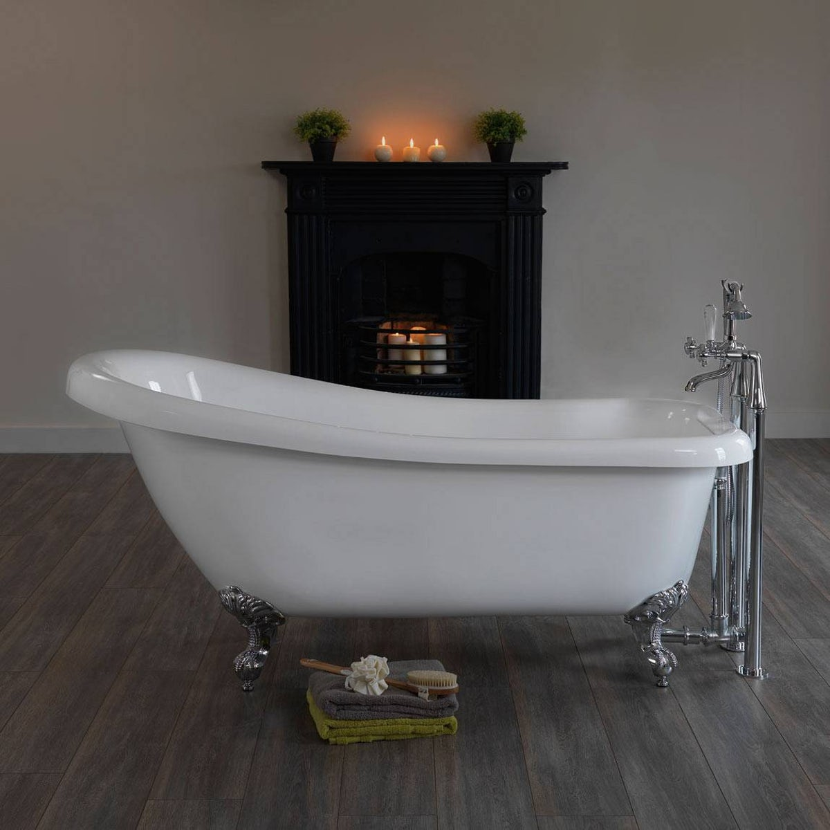 traditional roll top bath waste