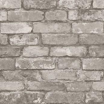 Fine Decor rustic brick sidewall cream