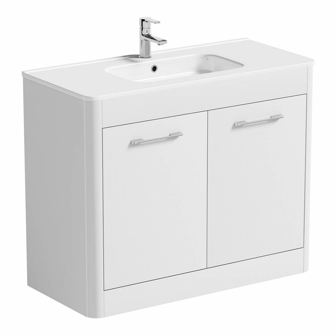 Sky white floor mounted 1000 door unit basin for 1000 door