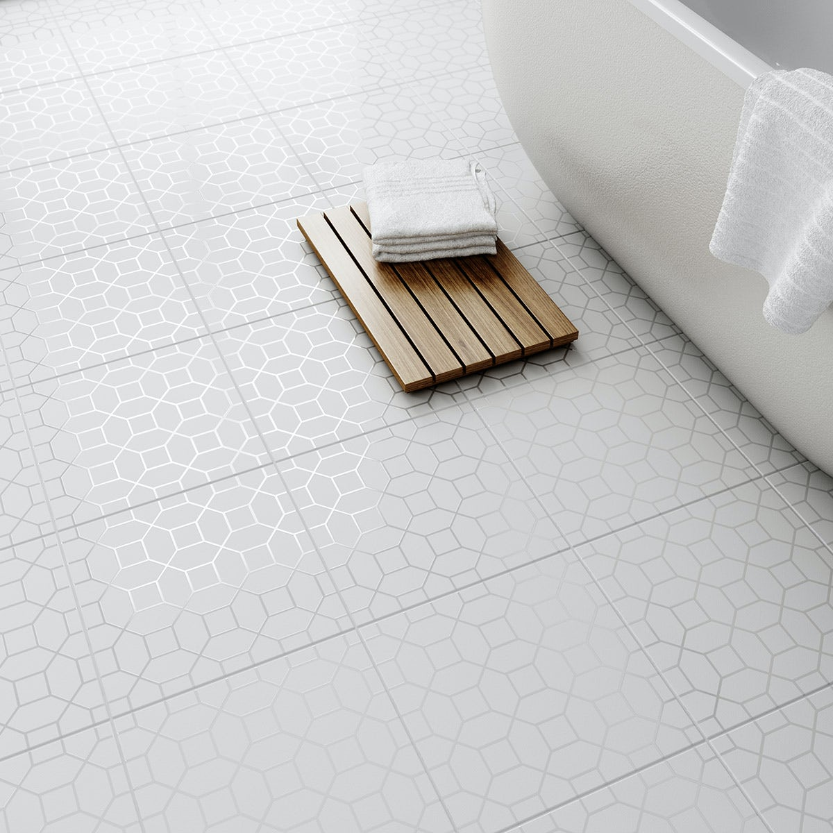 Laura Ashley Floor Tiles >> Laura Ashley Marise white floor tile 331mm x 331mm