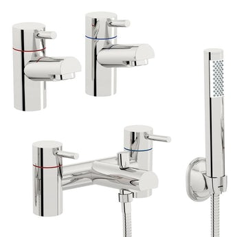 Matrix basin tap and bath shower mixer tap pack