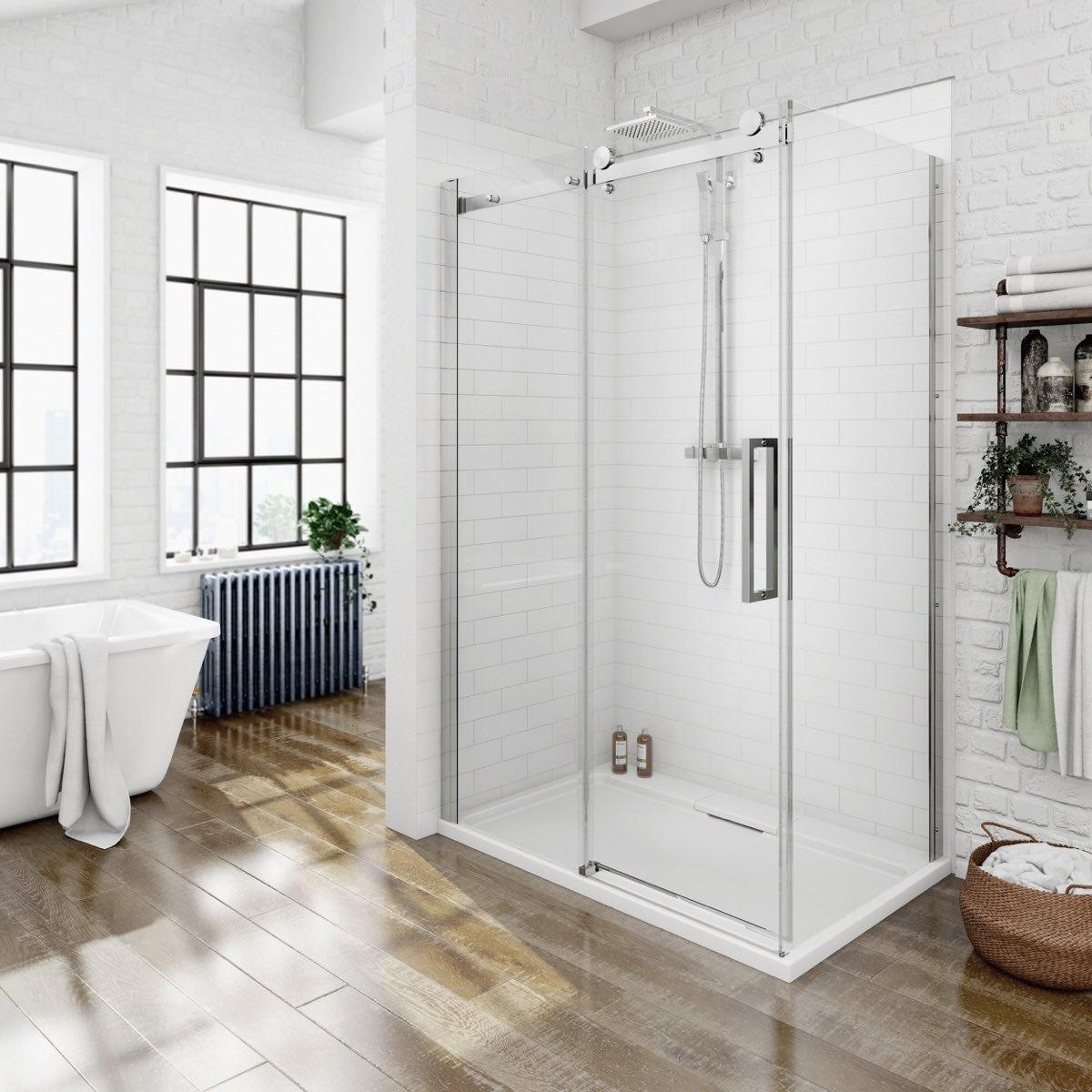 8mm Frameless Sliding Shower Enclosure 1200 x 900 ...