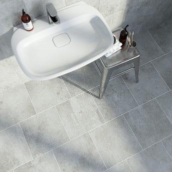 Metropolis mid grey matt tile 331mm x 331mm
