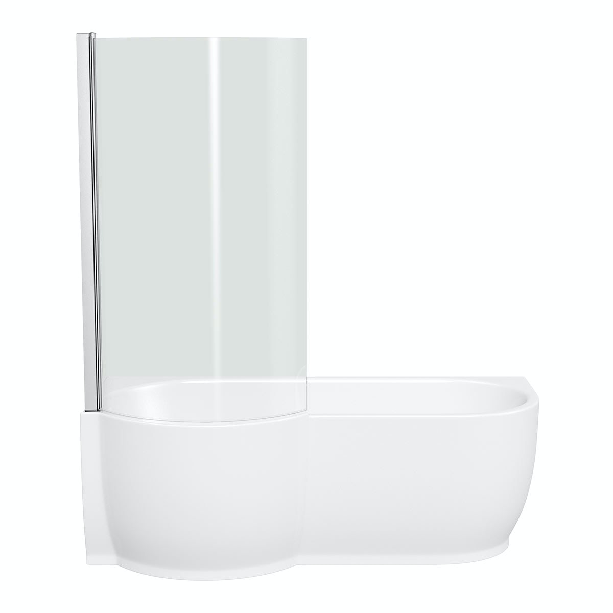 mode maine left handed p shaped shower bath and shower april p shape shower bath with optional front panel and