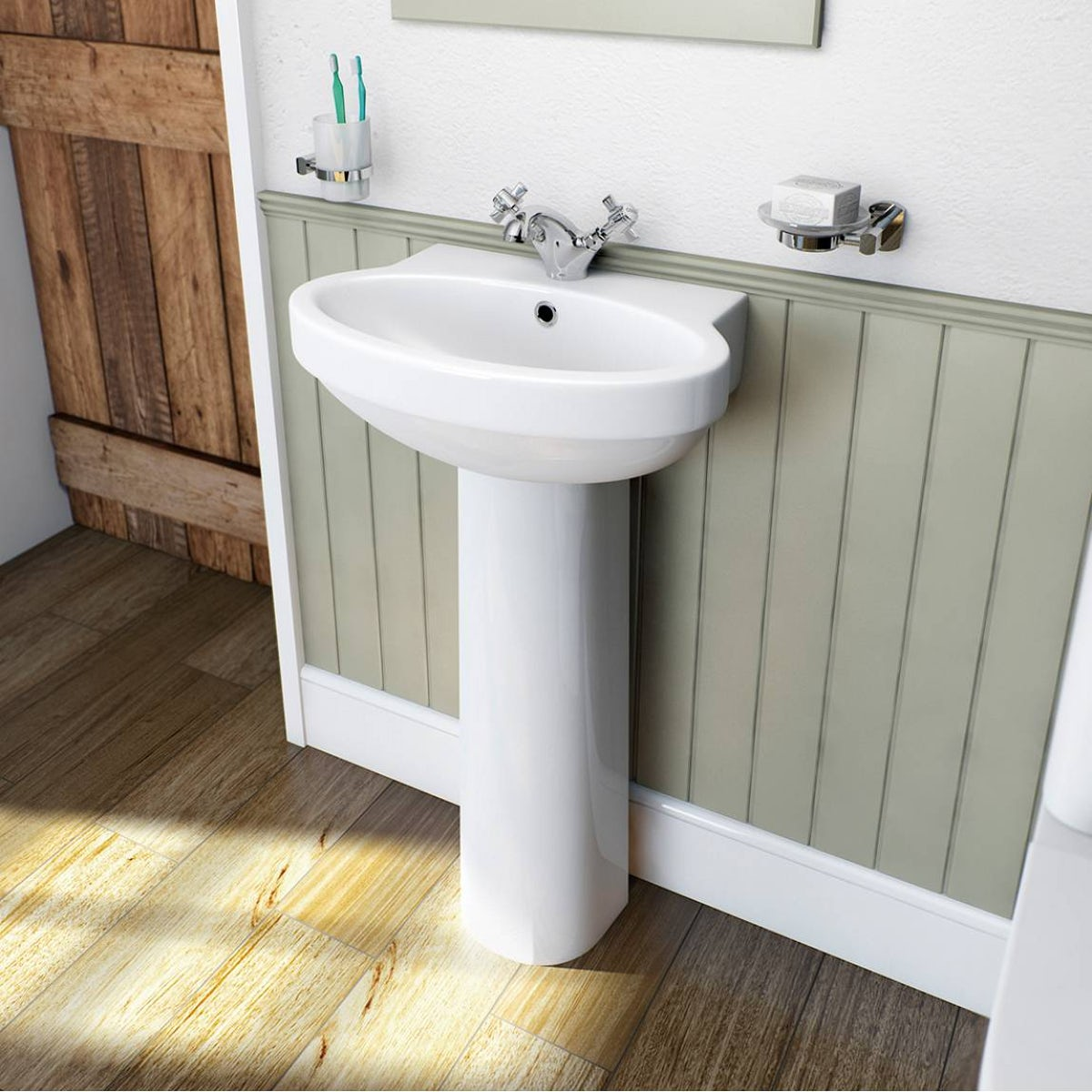 Deco bathroom suite with slipper bath small victoriaplumcom for Slipper bathroom suites