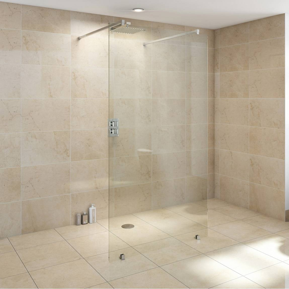 mode premium 10mm wet room glass panel