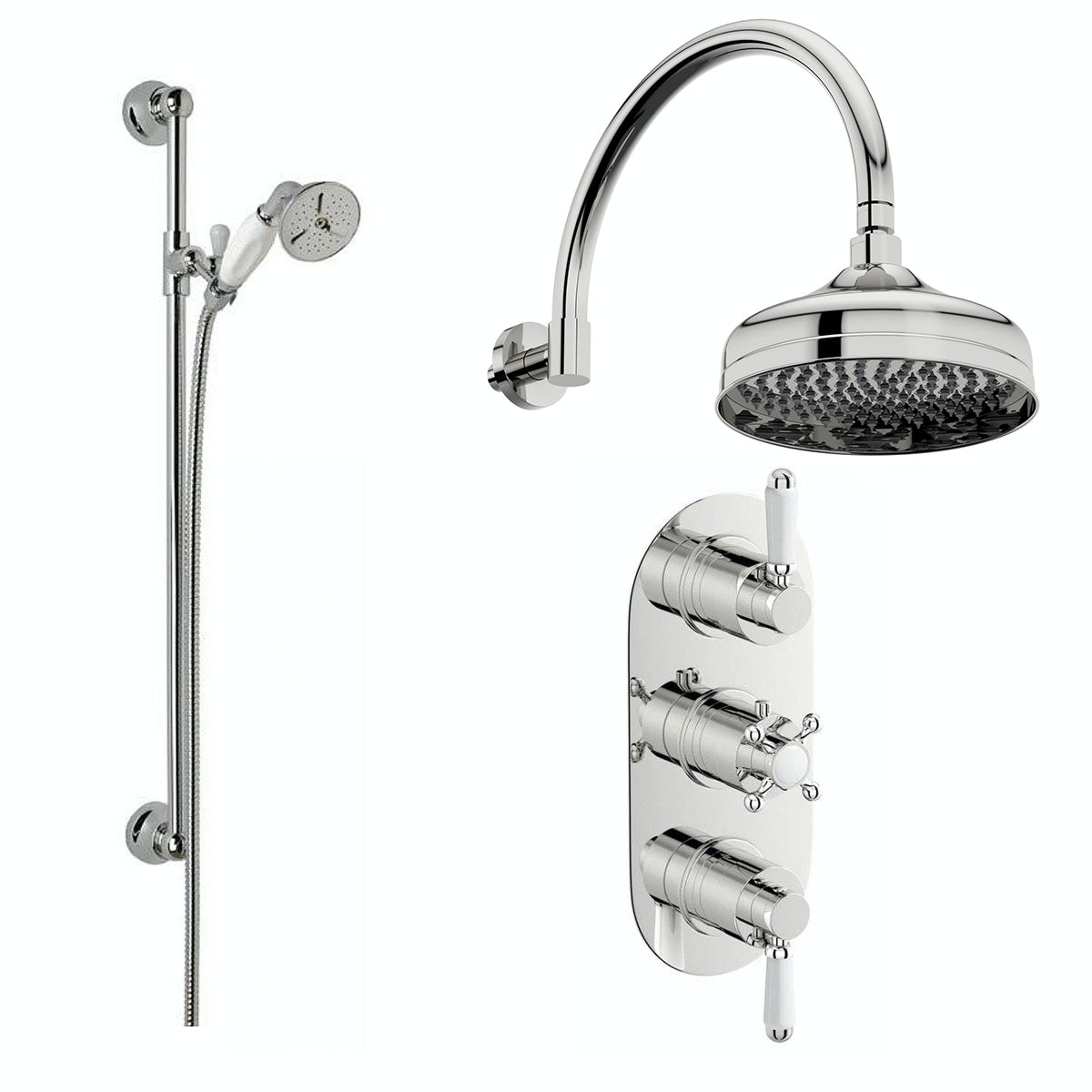 Body Jet Shower Bathroom: Coniston Shower Valve With Body Jets Wall Shower Set