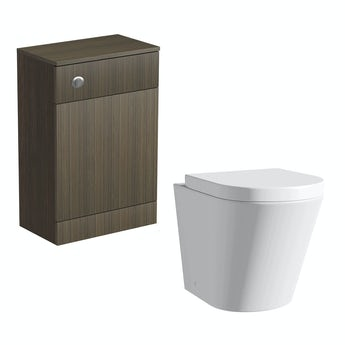 Arden walnut back to wall toilet unit with Arte back to wall toilet