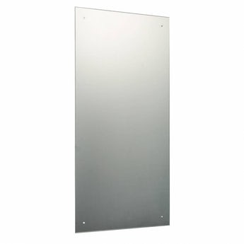 Rectangular bevelled edge drilled mirror 90cm x 45cm