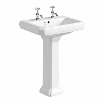 Cavendish 2 tap hole full pedestal basin 600mm