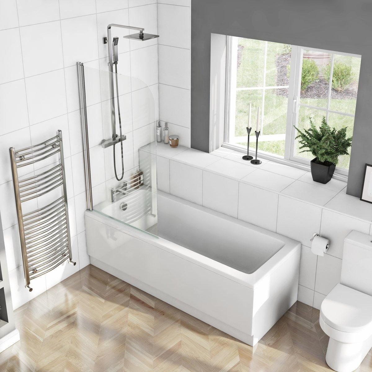 kensington 1700 x 750 shower bath with curved single marshall straight shower bath 1700 x 750mm with 6mm curved