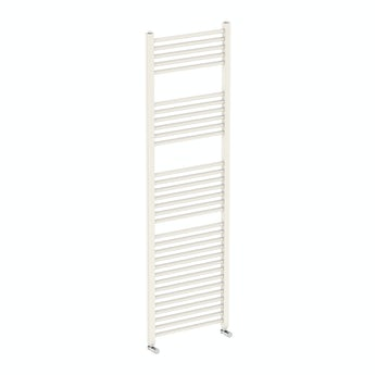 Round white heated towel rail 1600 x 500 offer pack