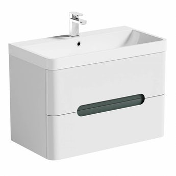 Mode Planet select slate wall hung vanity drawer unit and basin 800mm