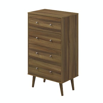 MFI Helsinki Walnut 4 drawer chest
