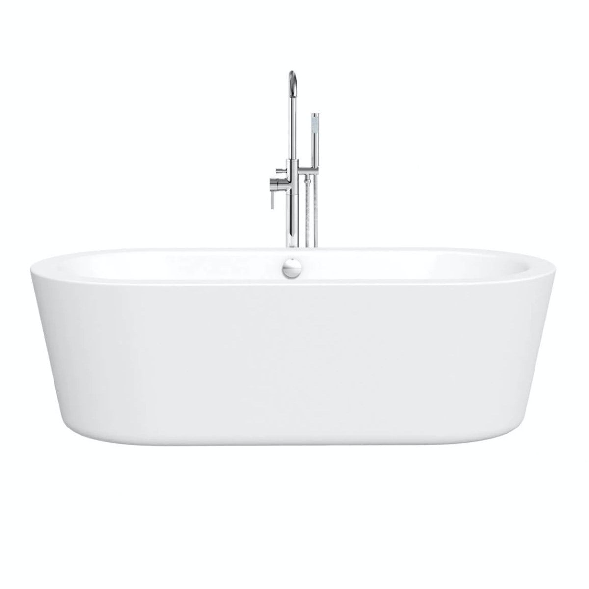 Crescent freestanding bath small special offer for Small baths 1200