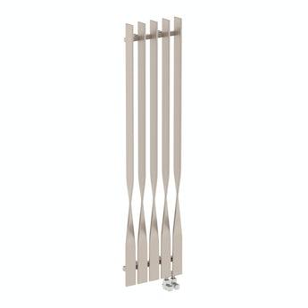 Terma Cyklon oyster grey vertical radiator 1600 x 410