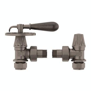 Terma Oxford russet manual lever radiator valves