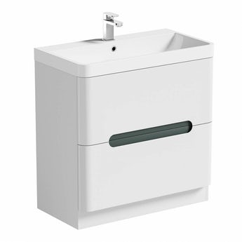 Mode Planet select slate vanity drawer unit and basin 800mm