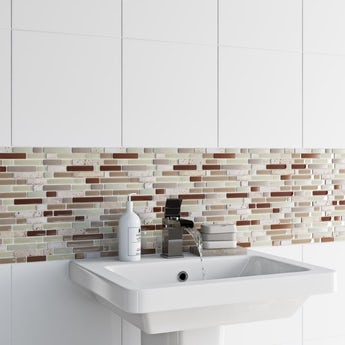 Mosaic nougat tile 300mm x 300mm - 1 sheet