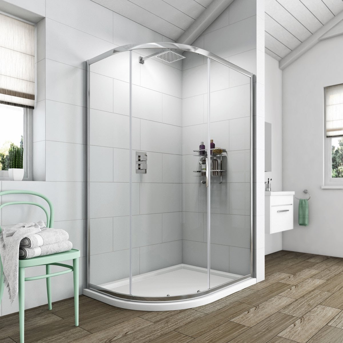Clarity 6mm Single Door Offset Quadrant Shower Enclosure