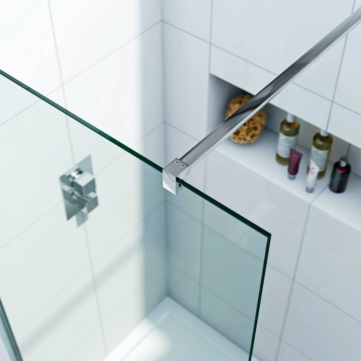 Mode luxury 8mm walk in shower glass panel with tray for 1200 shower door 8mm glass
