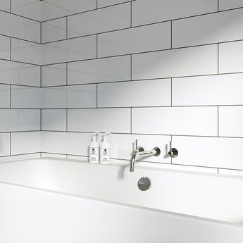 Maxi Metro Pure white gloss tile 148mm x 498mm