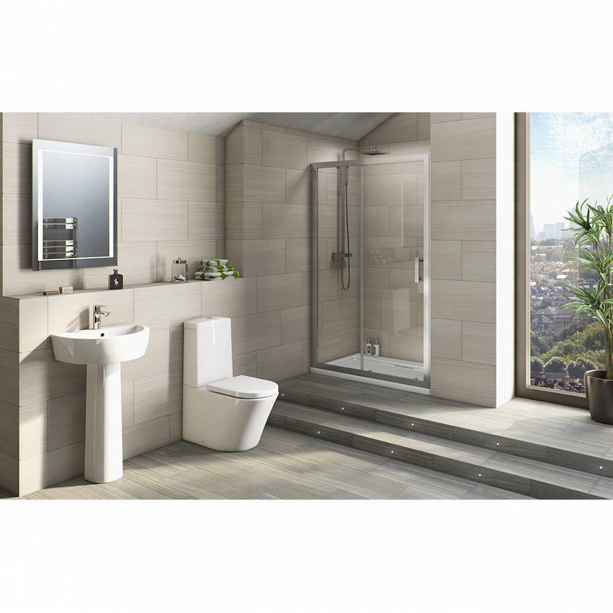Plumbs bathroom suites - Arc Bathroom Suite From Victoria Plumb Bathroom Suites Housetohome
