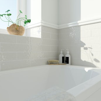 Laura Ashley Artisan pale biscuit wall tile 75mm x 300mm
