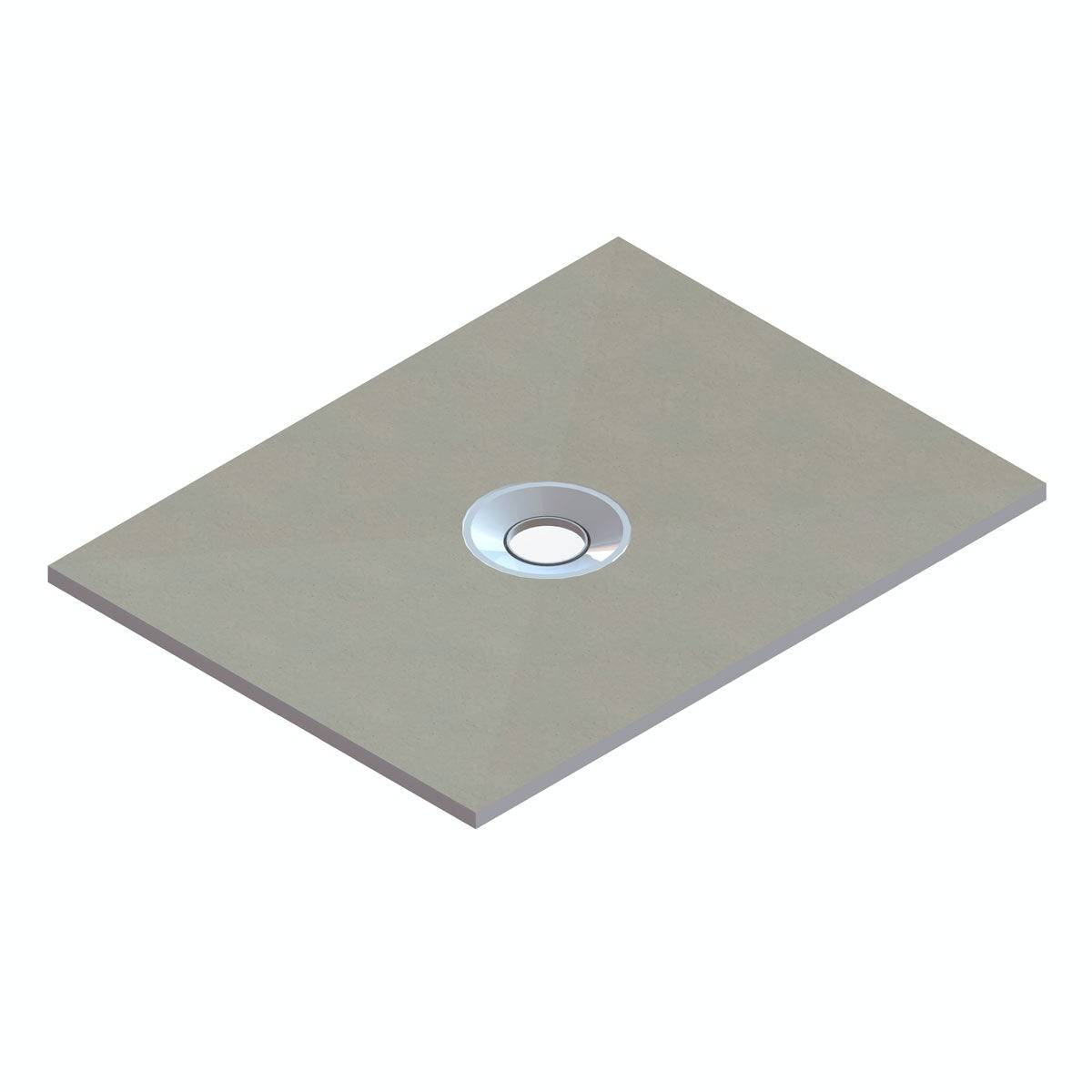 Wet Room Rectangular Tray With Centre Waste