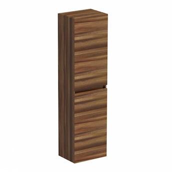 Plan walnut tall wall hung storage unit