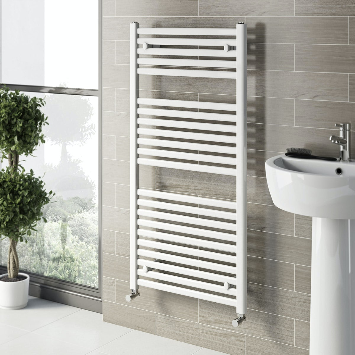 white electric towel rails for bathrooms white heated towel rail 1200 x 600 victoriaplum 25886