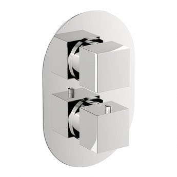 Mode Cubik oval twin thermostatic shower valve