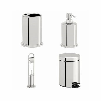 Options stainless steel 4 piece accessory set