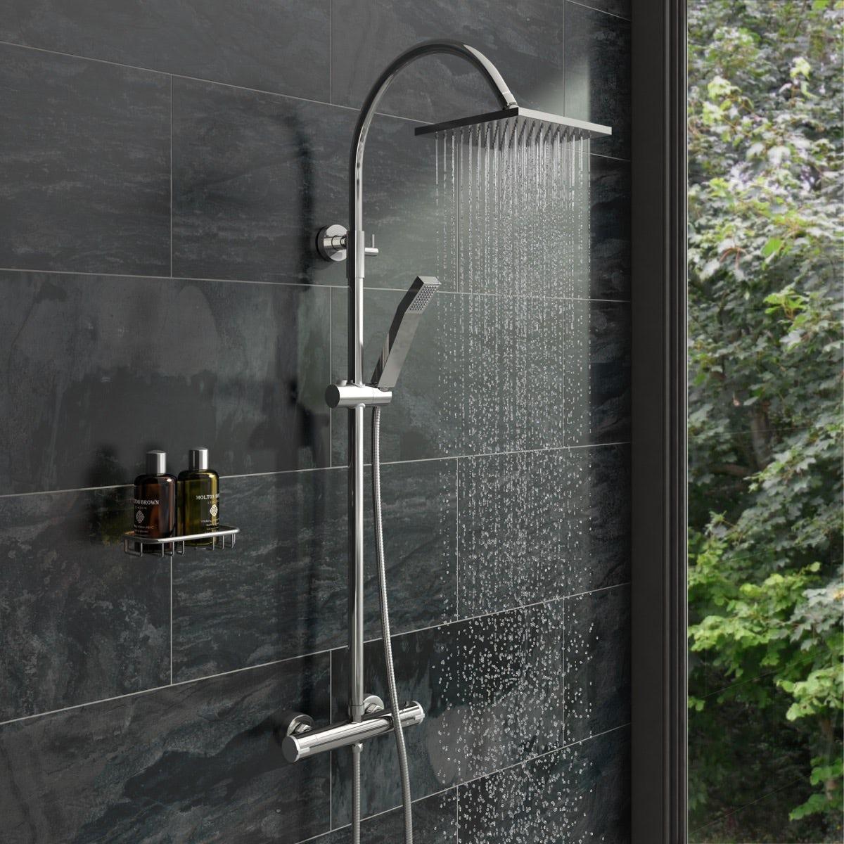 Aria Square Shower Riser System Victoriaplum Com