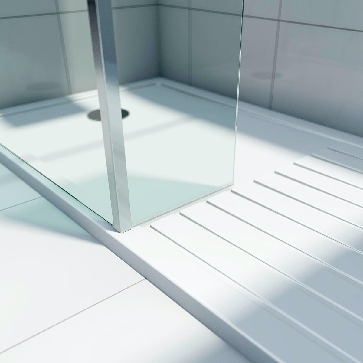 Mode Luxury 8mm Walk In Shower Enclosure Pack With Tray